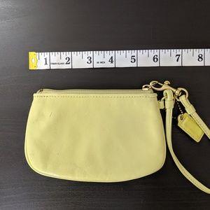 Coach Bags - Coach Yellow Green Wristlet
